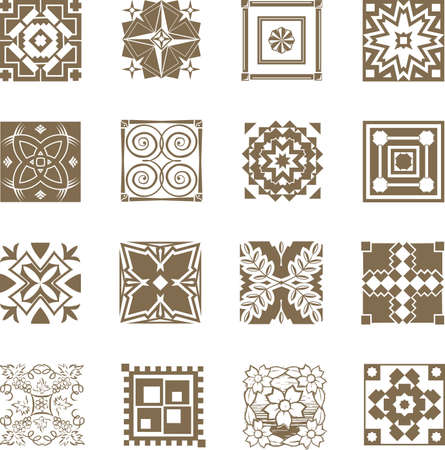 Ornate Tiles Stock Vector - 17707571