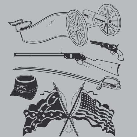 南北戦争コレクション  イラスト・ベクター素材