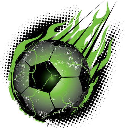 pelota de futbol: Bal�n de f�tbol de Meteor Vectores