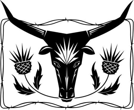 Bull and Thistles Stock Vector - 19017323
