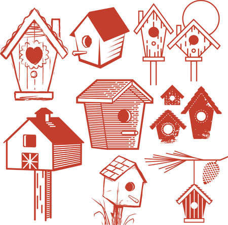 Birdhouse Collection Vector