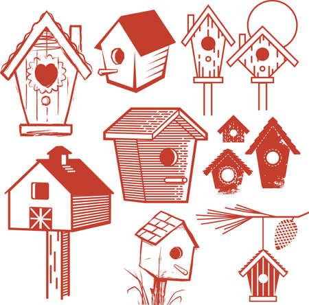 birdhouse: Birdhouse Collection Illustration