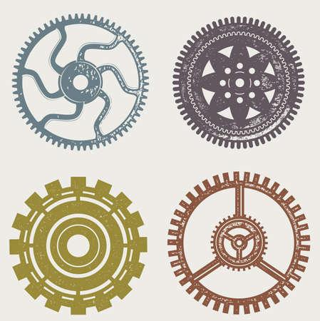 flywheel: Vintage Gears Illustration