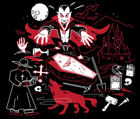 Night of the Vampire Vector