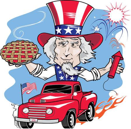 Uncle Sam Parade Vector