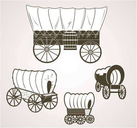 carreta madera: Carros cubiertos