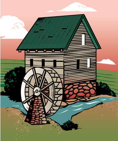 Rustic Mill Vector