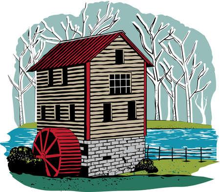 Vintage Mill Vector