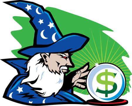 Financial Wizard Vector