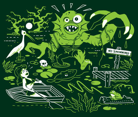 Search for the Swamp Monster Vector