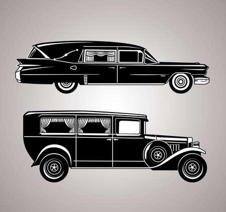 Vintage lijkwagens