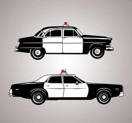 law enforcement: Vintage Squad Cars