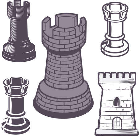Rook Chess Pieces