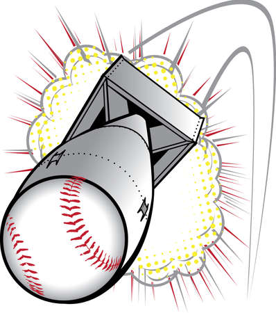 bomb: Baseball Bomb Illustration