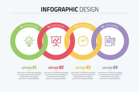 proceso de infografía ilustración vectorial Ilustración de vector
