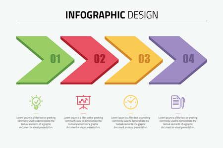Precess infographic diagram