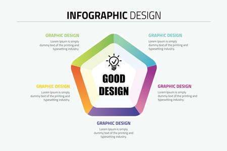 Infographic circle template design.