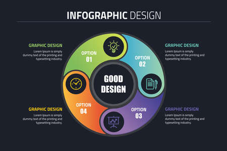 Vector circle template for infographics.