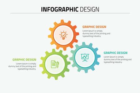 Gear wheels diagram template design illustration.