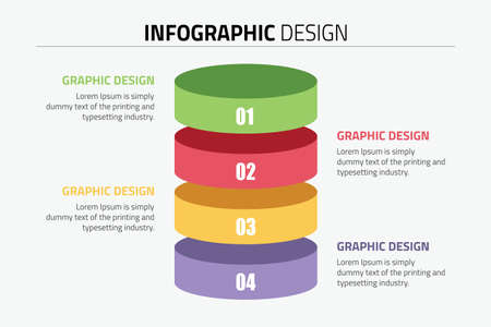 Inforgraphic design presentation slide template Stock Illustratie