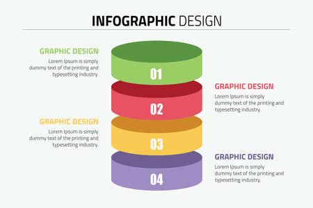 Inforgraphic design presentation slide template Illustration