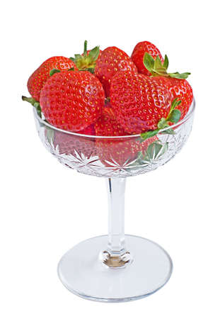 Strawberry on a plate on a white background photo