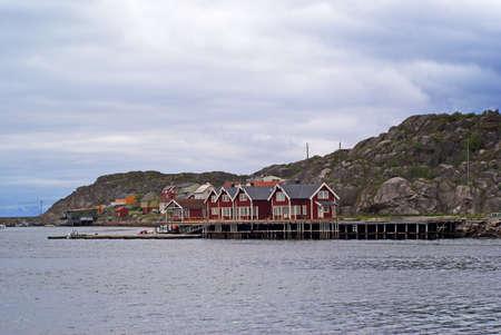 A village on Lofoten Islands in north Norway