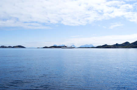 Seascape of Norwegian sea with cloudy sky Stock Photo