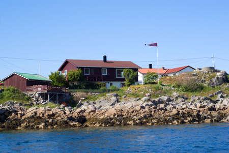 The Norwegian village Skrova on Lofoten Islands