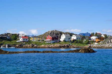 The Norwegian village Skrova on Lofoten Islands photo