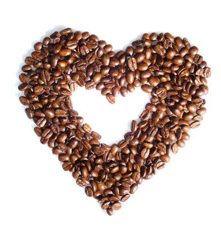 Arri�re-plan de grains de caf�