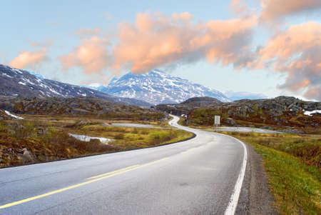 Route de montagnes  Banque d'images