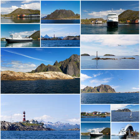 A collage of Norwegian landscape  Stock Photo