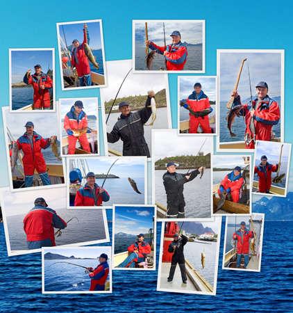 Un collage de p�che en Norv�ge