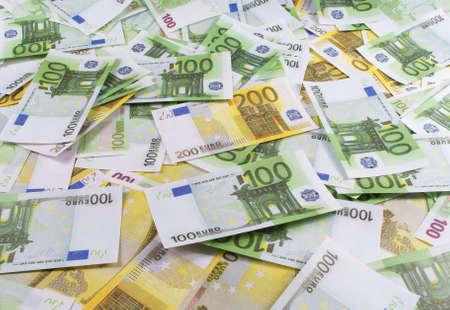 Beaucoup de billets cent deux cent euro Banque d'images