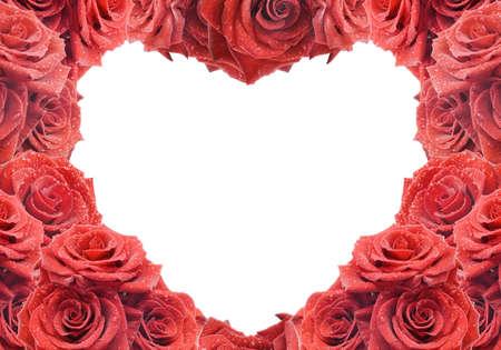 Carte de f�licitations et de roses rouges