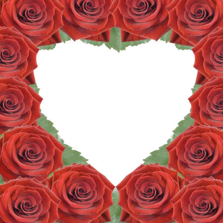 Card for congratulations with red roses photo