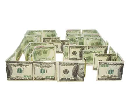 Labyrinthe de dollars Banque d'images
