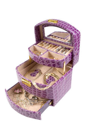 Lilac box with some jewelry photo