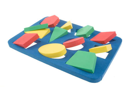 Children's developing game with color shapes Stock Photo - 8817691
