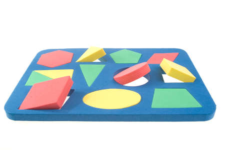 Children's developing game with geometric shapes Stock Photo - 8817692