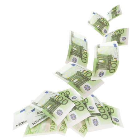 Falling banknotes euro Stock Photo