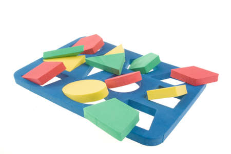 Developing game with color geometric shapes