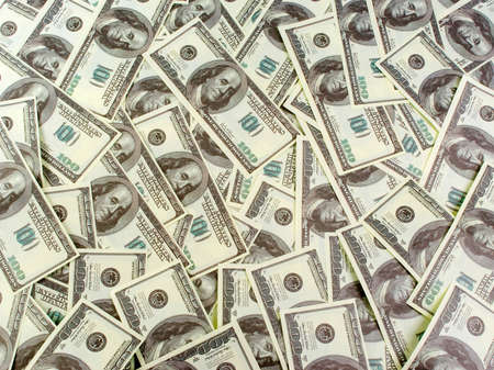 Background of banknotes dollars Stock Photo - 8936517