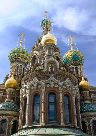 Russia, St.Petersburg. Temple Spas-na-krovi. photo