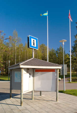 Information board with the flags of Sweden and Denmark Stock Photo - 9774061