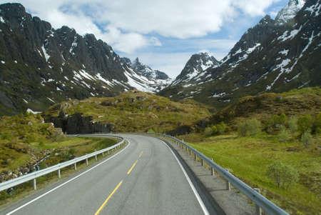 Road to norwegian mountains