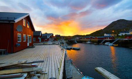 sunrise lake: Morning sunrise on the Norwegian island