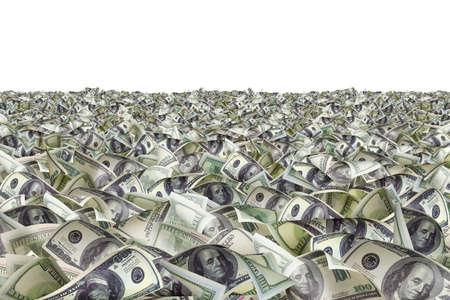 heap of dollar: Dollar bills on the ground