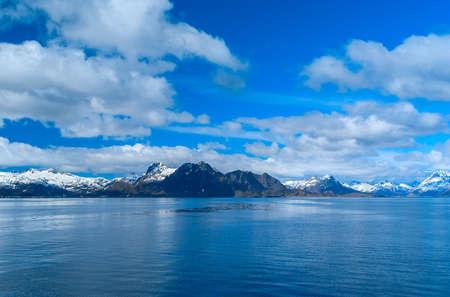 Seascape of Lofoten in Norway